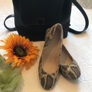 Cole Haan Snakeskin Wedge shoes - Like New